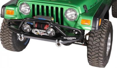 """Jeep Bumpers - Hanson - Jeep/FJ40 52"""" Bumpers - Hanson Offroad - Hanson Offroad JR51302-P Jeep 52"""" Fenderbar Front Bumper"""