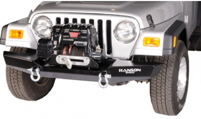 "MDF Exterior Accessories - Bumpers - Hanson Offroad - Hanson Offroad JR61102-P Jeep 60"" Basic Front Bumper"