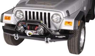 "Jeep Bumpers - Hanson - Jeep/FJ40 60"" Bumpers - Hanson Offroad - Hanson Offroad JR61202-P Jeep 60"" Winch Guard Front Bumper"