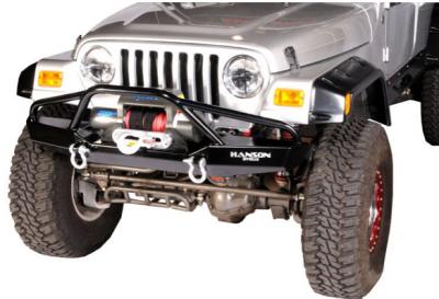 """Jeep Bumpers - Hanson - Jeep/FJ40 60"""" Bumpers - Hanson Offroad - Hanson Offroad JR61302-P Jeep 60"""" Fenderbar Front Bumper"""