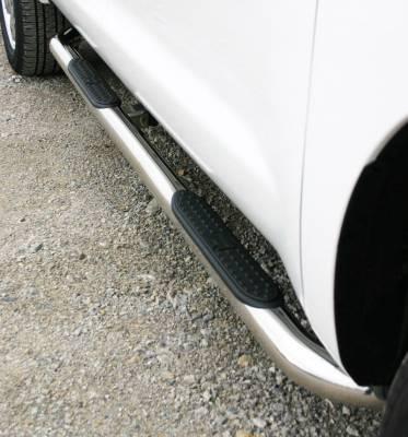 "Cab Length Tube Steps - GMC - Iron Cross - Iron Cross 51-566 3"" Wheel to Wheel Nerf Bars Chevy/GMC 1500 Crew Cab Short Bed 2014"