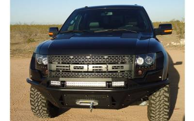 Addictive Desert Design Bumpers - Ford F150 Raptor - Addictive Desert Designs - Addictive Desert Designs ADDFB011012500103 Stealth Front Bumper with Winch Mount Front Raptor 2010-2013