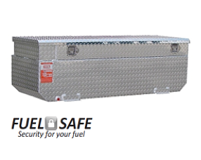 "Aluminum Tank Industries Auxiliary Tanks and Refueling Tanks - Auxillary Tanks - Aluminum Tank Industries - ATI AUX65FCBR 65 Gallon Gas/Diesel Auxiliary Tank and Toolbox Combo 19"" x 60"" x 21"""