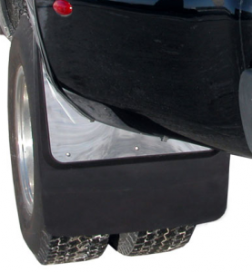 Mud Flaps for Dually Trucks - Luverne Contoured Dually Mud Flaps
