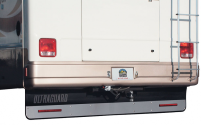 "Hitch Mud Flaps - Ultra Guard - Ultra Guard - Ultra Guard 00093 Stainless Steel Face Trim Plate for 94"" Ultra Guard"