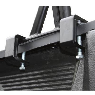 "Vantech - Vantech P3002B Universal Clamp On Full Size Truck Rack with 72"" Bars Black - Image 3"
