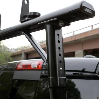 "Vantech - Vantech P3002B Universal Clamp On Full Size Truck Rack with 72"" Bars Black - Image 7"