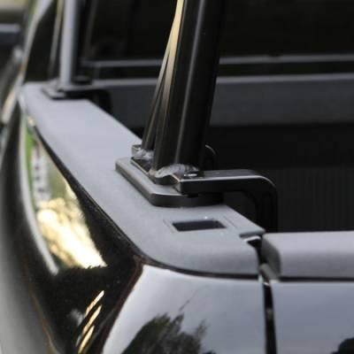 "Vantech - Vantech P3001B Universal Clamp On Mid Size Truck Rack with 65"" Bars Black - Image 5"