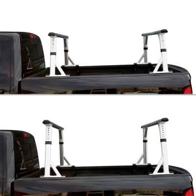 "Vantech - Vantech P3001B Universal Clamp On Mid Size Truck Rack with 65"" Bars Black - Image 2"