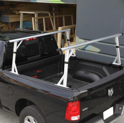 "MDF Exterior Accessories - Ladder Racks - Vantech - Vantech P3001S Universal Clamp On Mid Size Truck Rack with 65"" Bars Silver"
