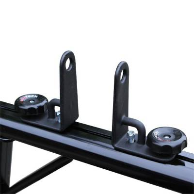 "Vantech - Vantech P3003B Universal Clamp On Full Size Truck Rack with 84"" Bars Black - Image 4"