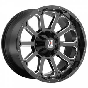 Wheels and Tires - KMC XD Series - XD806 Bomb Gloss Black and Milled