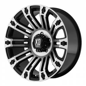 Wheels and Tires - KMC XD Series - XD810 Brigade Gloss Black and Machined