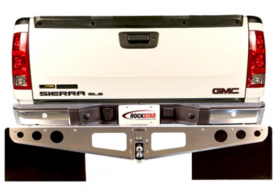 Rockstar Hitch Mud Flaps - Rockstar Hitch Mud Flaps A1020031 Smooth Mill Chevy/GMC Trim To Fit Flap 2007-2013 - Image 3