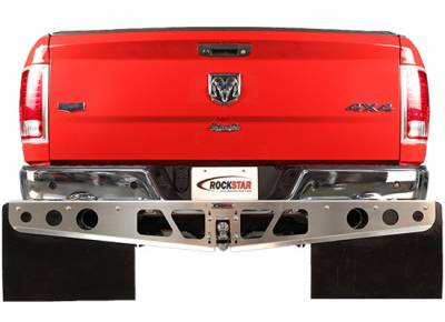 Hitch Mud Flaps - Rockstar Hitch Mud Flaps - Rockstar Hitch Mud Flaps - Rockstar Hitch Mud Flaps A1040031 Smooth Mill Dodge Ram Trim To Fit Flap 2009-2013