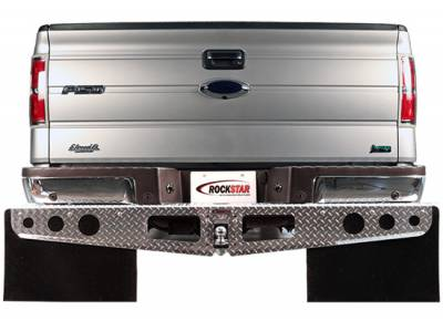 Hitch Mud Flaps - Rockstar Hitch Mud Flaps - Rockstar Hitch Mud Flaps - Rockstar Hitch Mud Flaps A1010042 Diamond Tread Ford Trim To Fit Flap 2004-2013