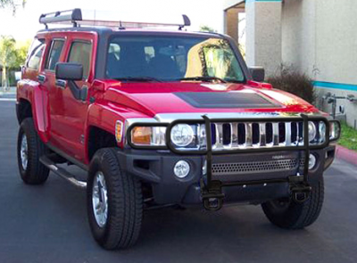 MDF Exterior Accessories - Steelcraft - Steelcraft 50280OE OEM Style Black Grille Guard Hummer H3/H3T 2006-2011