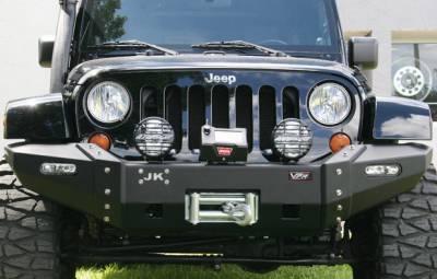 MDF Exterior Accessories - Bumpers - VPR 4x4 - VPR 4x4 VPR-126 Ultima Winch Front Bumper Jeep JK 2007-2015